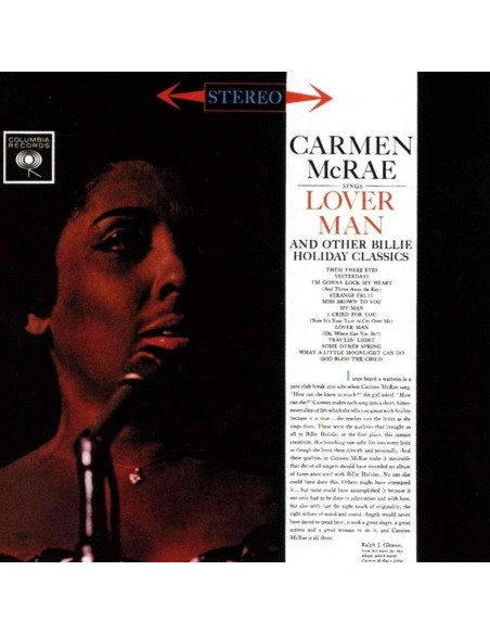 Carmen Mcrae Sings Lover Man And Other Billie Holiday Classics.