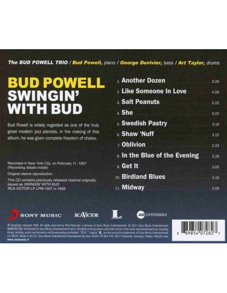 Swingin' With Bud. Jazz Connoisseur (1 CD)