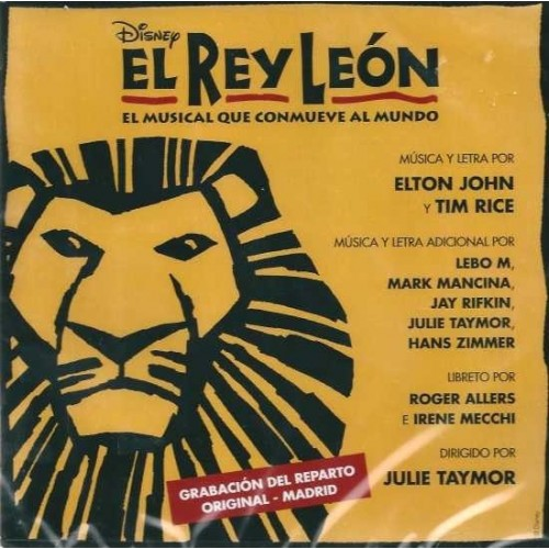 El Rey Leon. El Musical (1 CD)