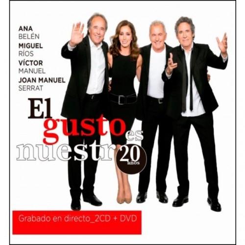 El Gusto Es Nuestro 20 Años En Directo (2 CD+1 DVD)