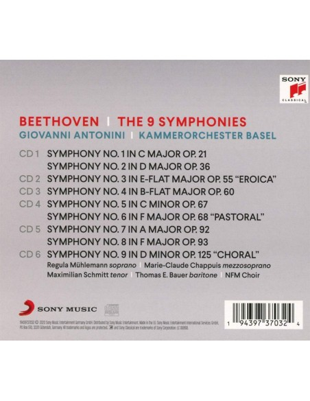 Beethoven: The Symphonies (6 CD)